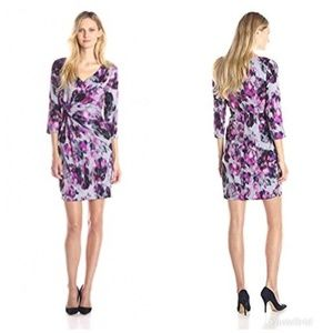 NYDJ SYLVIA PRINTED BERRY DRESS